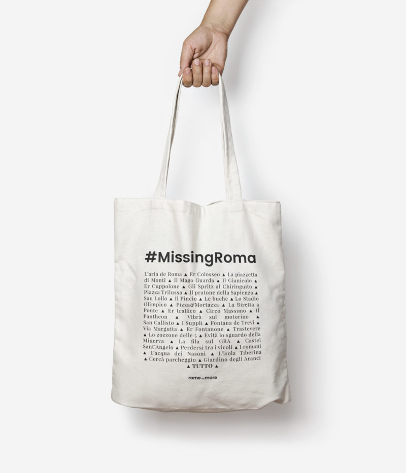 tote bag rome is more