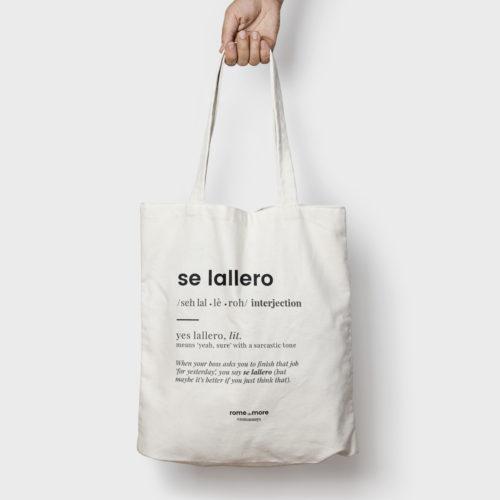 Tote bag 'Se Lallero'