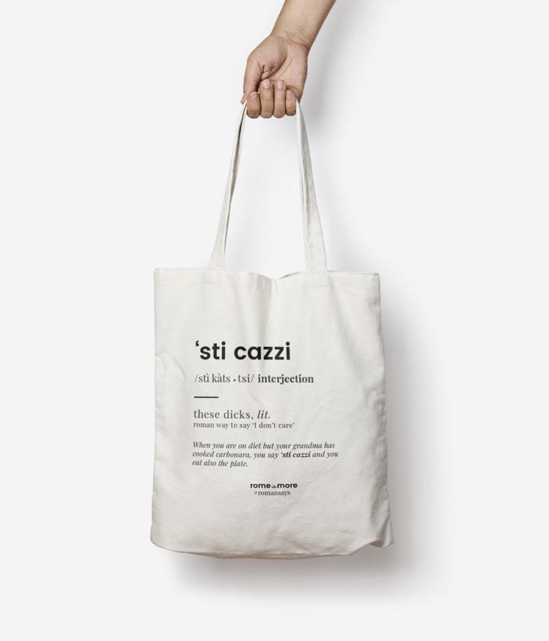 Tote bag 'Sti Cazzi'