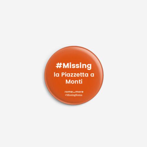 Spilla #MissingRoma 'Monti'