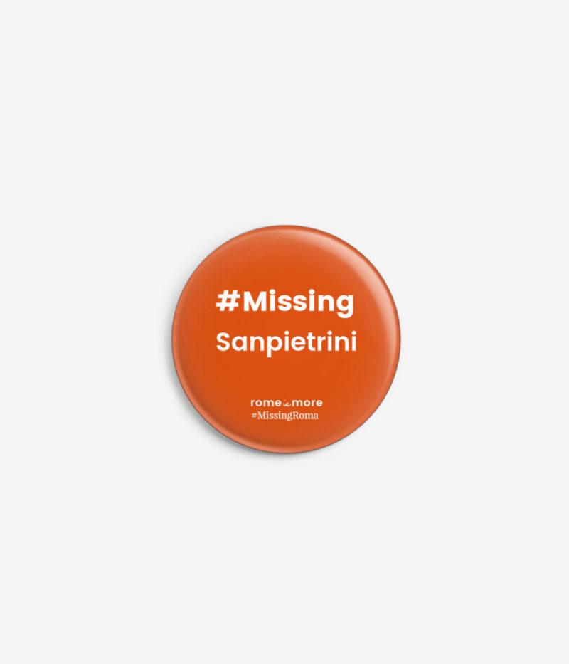 Spilla #MissingRoma 'Sanpietrini'