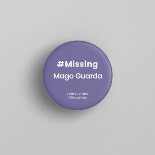 Spilla #MissingRoma 'Mago Guarda'