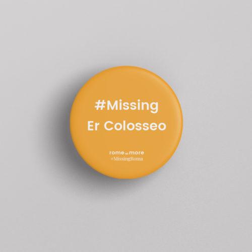 Spilla #MissingRoma 'Colosseo'