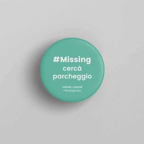 Spilla #MissingRoma 'Parcheggio'