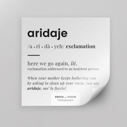 Sticker 'Aridaje'
