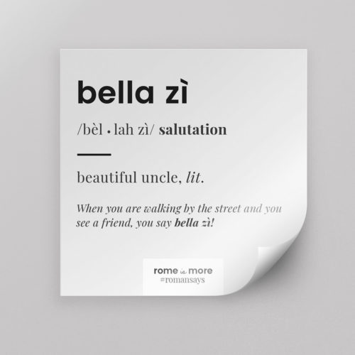 Sticker 'Bella Zì'