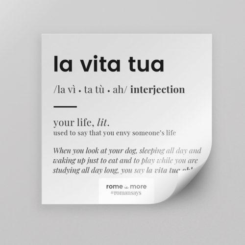 Sticker 'La Vita Tua'