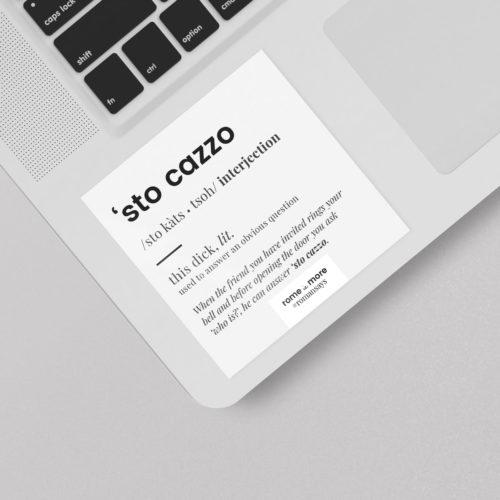 Sticker 'Sto Cazzo'