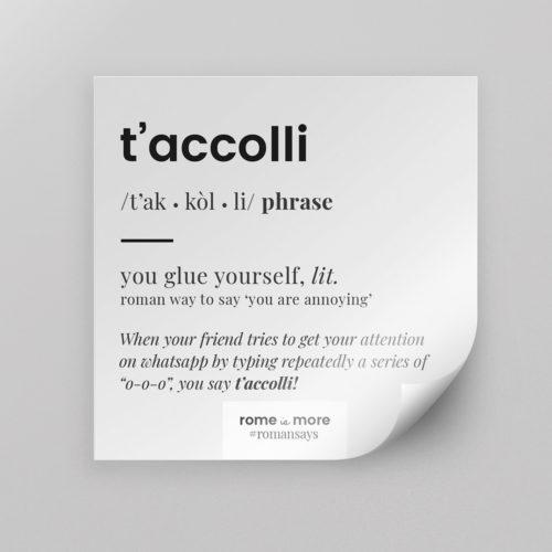 Sticker 'T'Accolli'