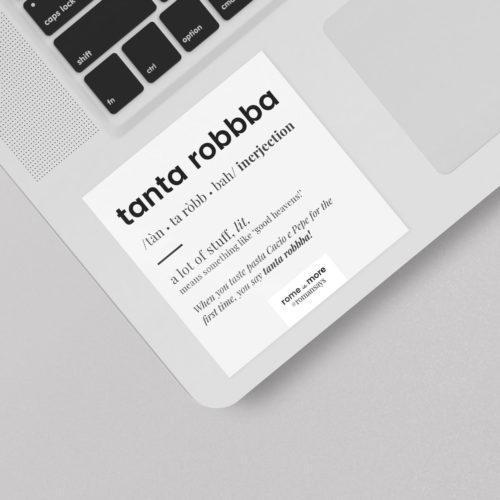 Sticker 'Tanta Robbba'