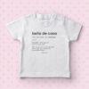 Magliettina baby 'Bella de casa'