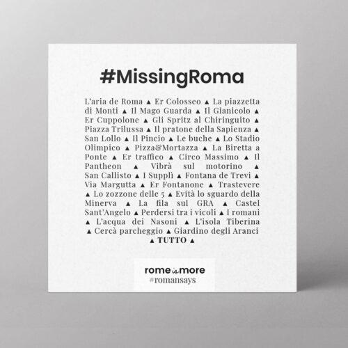 Cartolina 'Missing Roma'
