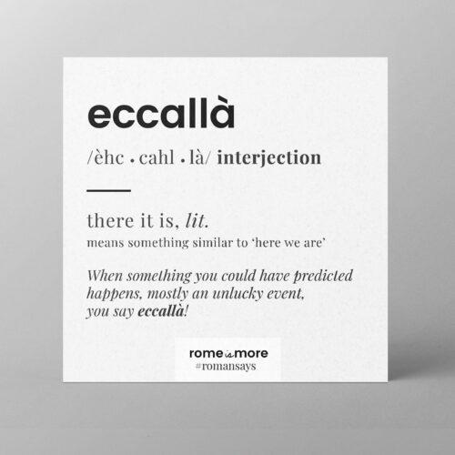Cartolina 'Eccallà'