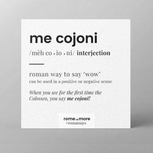 Cartolina 'Me Cojoni'