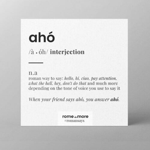 Cartolina 'Aho'