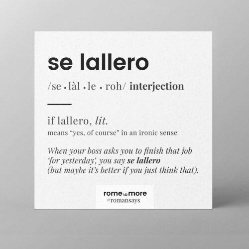 Cartolina 'Se Lallero'
