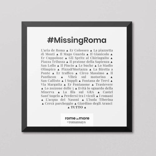 Quadretto 'Missing Roma'